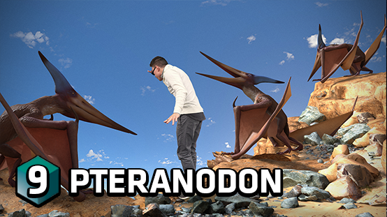 Fly through the air with the Pteranodons of time past