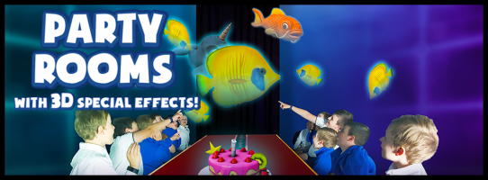 We have special birthday party rooms where 3D fish and butterflies fly in the air above your table while you eat your birthday food. Every few minutes the scenes change - because this experience isn't as interactive as the others, it is perfect for spending a day with your friends and family on your birthday at our entertainment centre!We can host your next party at Holoverse, whether it be kid's birthday parties or for other special events. As a part of your party everyone will get to try all of the other amazing games and experiences available at Holoverse!