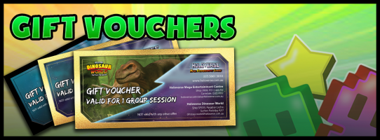 Looking for a great gift for someone special?  Holoverse now has gift cards that you can buy online or at the store counter! These are a great birthday gift!  You can get a gift card for single session or for a group. When your gift recipient redeems their gift card, they will even receive 3 extra game credits per person!